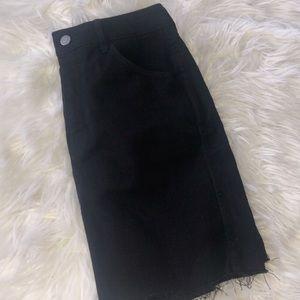 H&M Worn Twice Denim Black Skirt